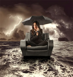 Woman-in-storm-Defeatist-250px-wide